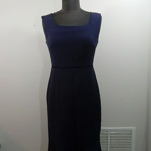 Ann Taylor blue mermaid dress sz2